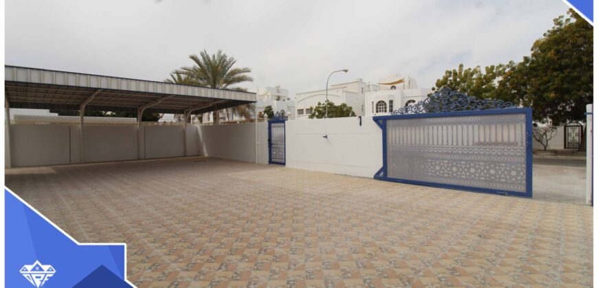 Spacious And Modern 5 Bedrooms+Maid Room With Spacious Front Yard & Back Yard Villa For Rent in The Prime Location of Shati Al Qurm.