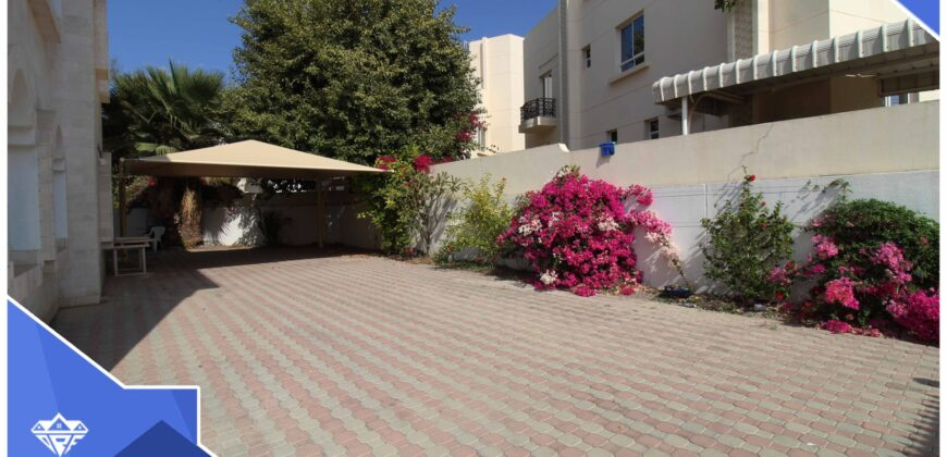 well designed 3 Bedrooms+Maid Room With Private Parking Villa For Rent in Madinat Qaboos At Prime Location.75