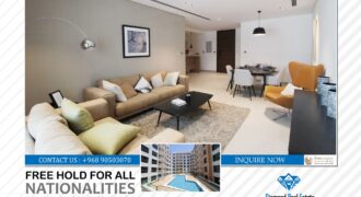 "Brand New Free Hold Properties For Sale For All Nationalities 1 Bedroom & 2 Bedrooms  In Muscat Hills..! ""The Pearl Muscat"""